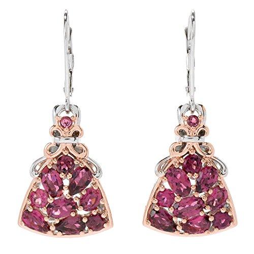 Michael Valitutti Palladium Silver Pink Tourmaline Cluster Drop Earrings by Michael Valitutti