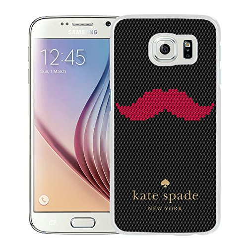 Luxurious And Nice Custom Designed Kate Spade Cover Case For Samsung Galaxy S6 White Phone Case 201