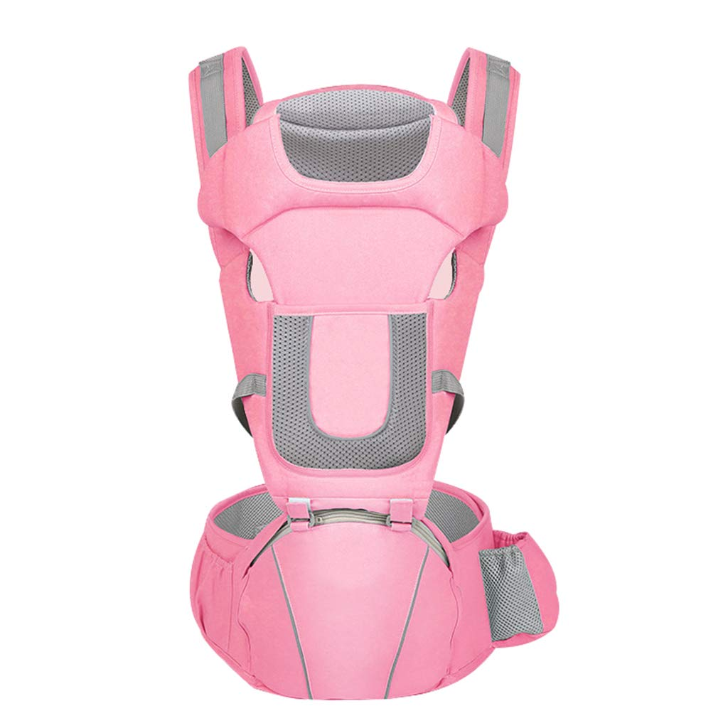 Portabebé,portabebes Para Llevar A Tu Bebe Manos Libres Portabebes De Diseño Ergonómico Con Múltiples Posiciones Adapta Medida (Color : Pink)
