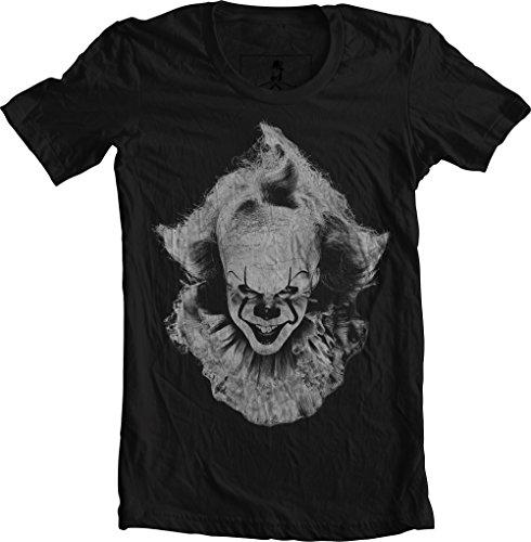 Xqste It Clown Pennywise Halloween Horror Unisex T-Shirt (Small, Black)