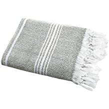 "SALBAKOS Incredibly Soft, Turkish Peshtemal Fouta Towel, Eco-Friendly and Oeko-Tex Certified 100% Cotton, Herringbone for Spa Bath Pool Sauna Picnic Throw Blanket (40""x70"", Green)"