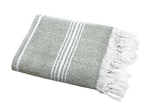 SALBAKOS Incredibly Soft, Turkish Peshtemal Fouta Towel, Eco-Friendly and Oeko-Tex Certified 100% Cotton, Herringbone for Spa Bath Pool Sauna Picnic Throw Blanket (40