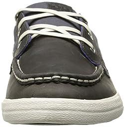 Helly Hansen Men\'s Framnes Boat Shoe, Mid Grey/Ebony/Lake Purple, 9 M US