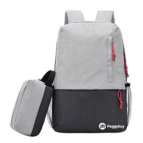 Small Backpack Usb Charging Laptop Peggybuy grey Business Unisex Bag Pb With x7B8fn