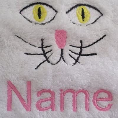 EFY Face Cloth Hand Towel Bath Sheet 100x150cm Bath Towel or Bath Sheet Personalised with KITTEN logo and name of your choice