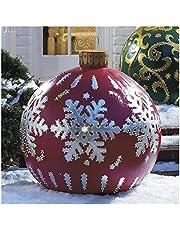 XFSSFWB Bola Decorada Inflable de Navidad al Aire Libre, Bola Decorada Inflable de PVC de Navidad al Aire Libre, Bola Inflable de Navidad Gigante Decoraciones para árboles de Navidad con Bomba