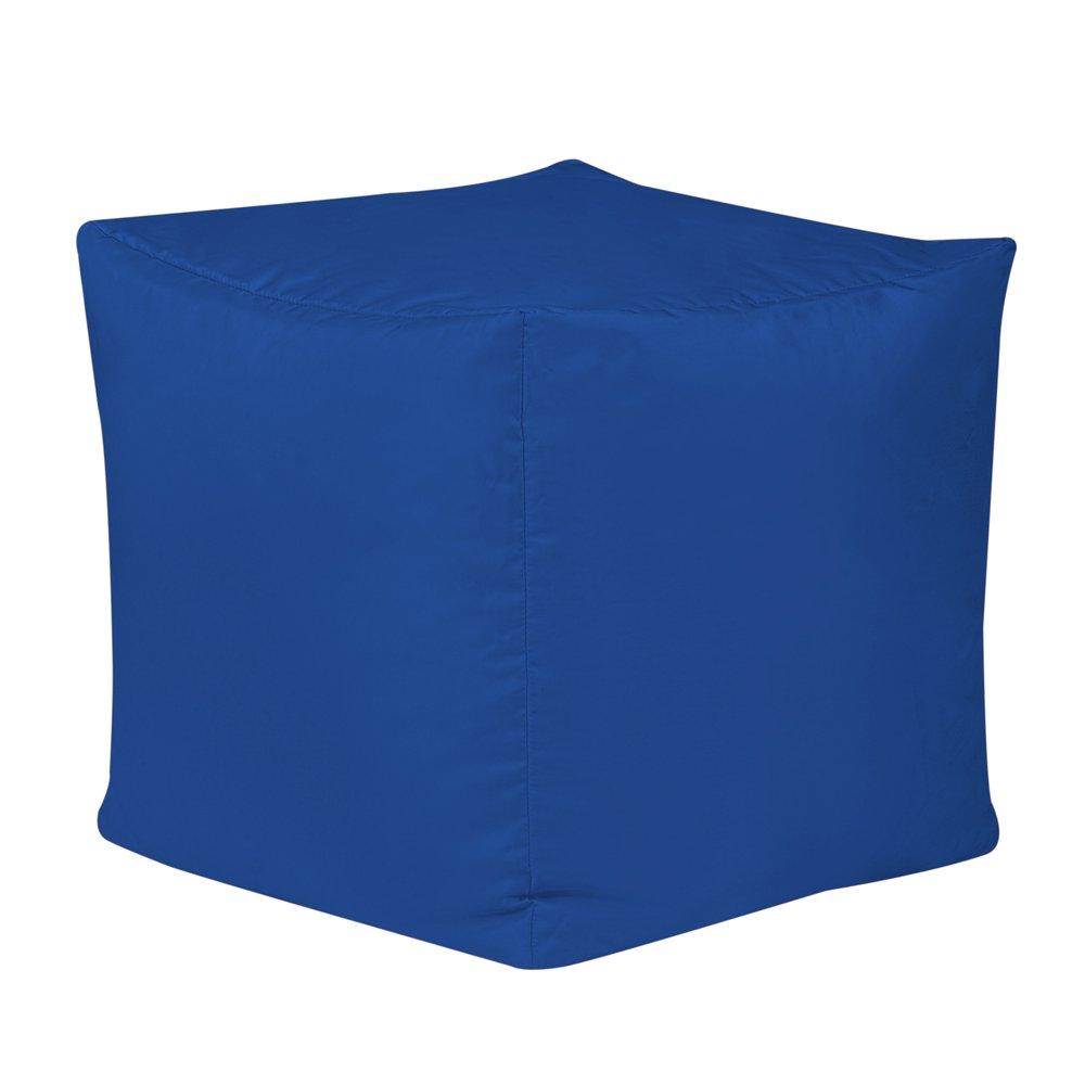 Bean Bag Bazaar Cube - Black, 38cm x 38cm - Indoor Outdoor, Water Resistant Footstool Pouffe