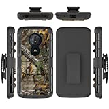 Ankoe Belt Case for Moto G6 Play, Super Slim Hard Shell Layer Holster Sport Case with Belt Clip and Holster Kickstand, Combo Shell Holder for Motorola Moto G6 Play (Camo)