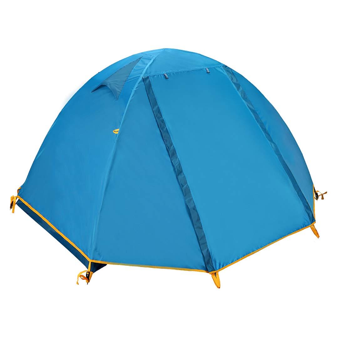 AX-outdoor products Doppeltes kampierendes Überdachungszelt des Zeltes im Freien Freien Freien doppelte Wasserdichte Markisen-Gewebe-Silikonbeschichtung des Wassers/blau 210  140  110cm ba1d86