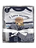 Precious Moments Baby Boys I Love Mommy 5-Piece Layette Gift Set - white