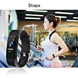 hellvery Smart Wristband with Heart Rate Monitor/Sleep Quality Monitor/Steps Counter/GPS Tracker and More, Smart Wristband Watch for Android and iOS Clips, Arm & Wristbands