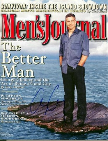 Autograph-Warehouse-31596-George-Clooney-Autographed-Magazine-Mens-Journal-Ng