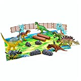 21 Piece Dinosaur Play Set with Realistic Toy Figures, Play Mat and Carrying ...