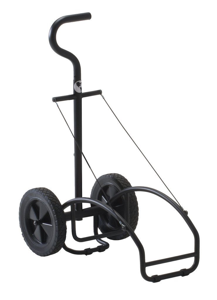 EARTHLITE Traveler Massage Table Cart - Sturdy Massage Table Platform with Large Rubber Wheels & Telescoping Handle, Fits All Brands