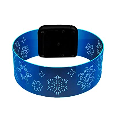blinkee Snowflake Cosmic Blue LED Bracelets Magnetic Clasp: Toys & Games