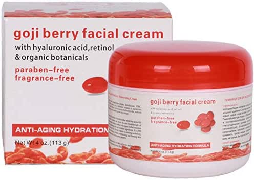 Ofanyia Goji Berry Facial Cream with Hyaluronic Acid, Retinol, Anti Aging Moisturizing Hydrating Whitening Skin Care Goji Berry Cream