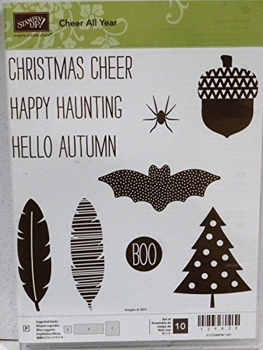 Stampin Up ALL YEAR CHEER stamps NEW Fall acorn Christmas tree feather autumn from STAMPIN UP!