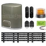 Kit pour portails coulissant Somfy Elixo 500 - 3S RTS - Pack confort avec la cremaillère nylon 5 m