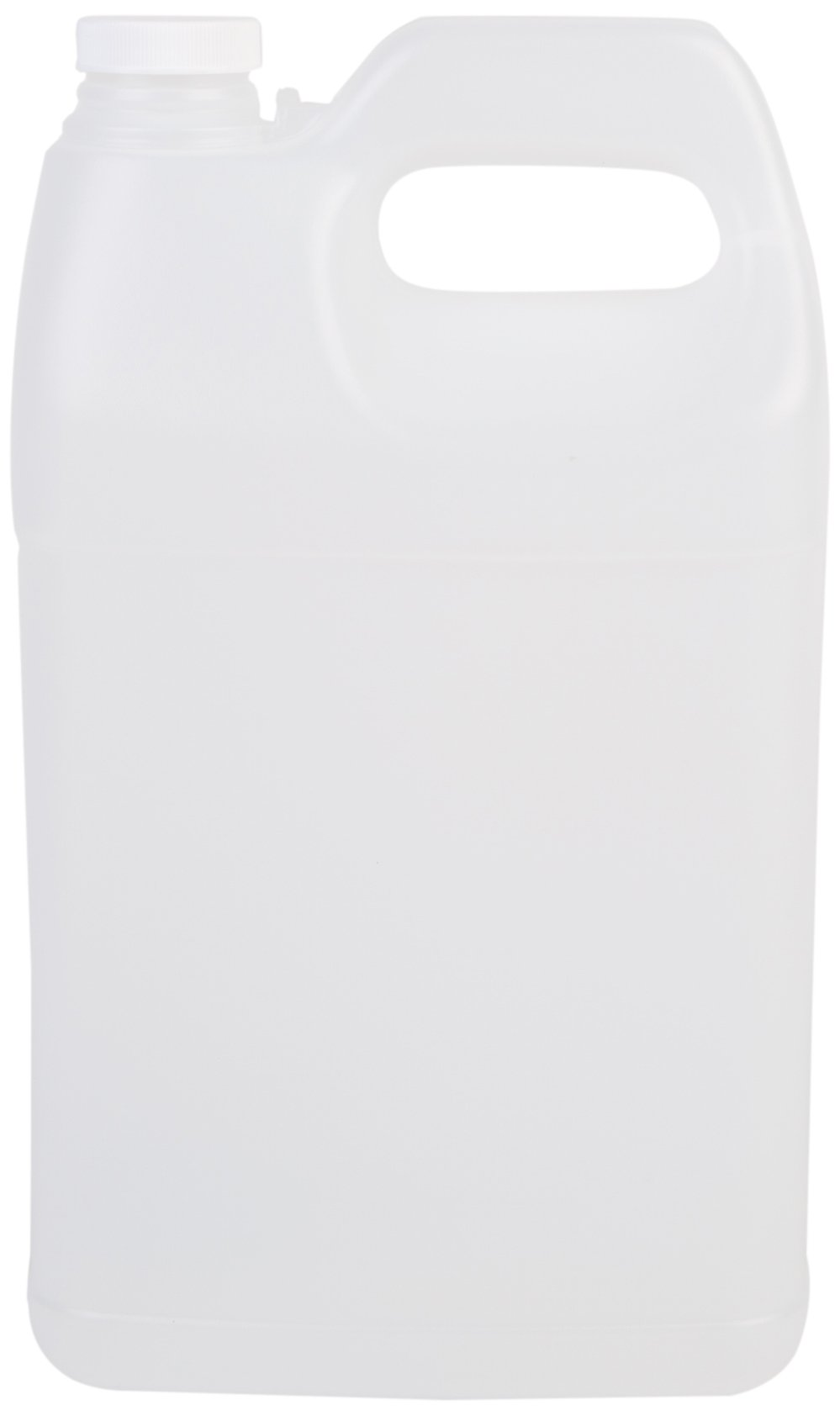 Hudson Exchange F-Style HDPE Plastic Jug with 38 mm Caps, 1 gal, Natural, 6 Piece