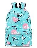 Leaper Vintage Crane Laptop Backpack for Women, Travel Bag School Backpack for Girls Daypack by (Blue Crane)