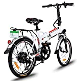 Garain 250W Aluminum Alloy Electric Folding Mountain Bike Road Cycling Bicycle