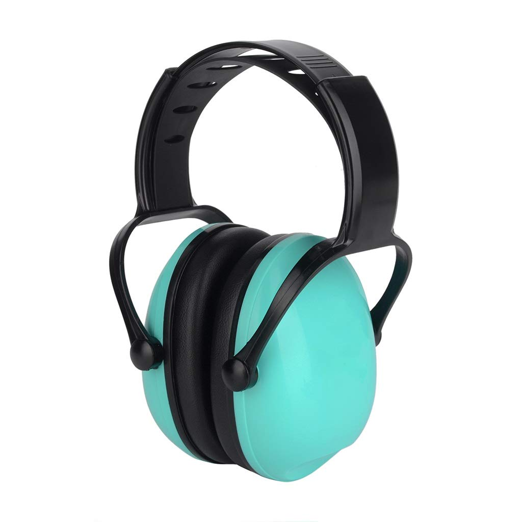 DLYDSS Noise Canceling Headphones, Children's Soundproof Earmuffs, Drum Noise Canceling Headphones. SNR 26dB for Children and Babies Aged 3-16 (Color : Green) by DLYDSS