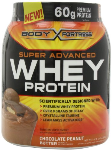 Body Fortress Whey Protein Powder, 31.2 Ounces (Chocolate Peanut Butter, 2 Pack)