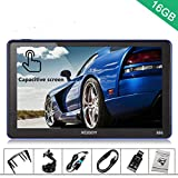 Xgody 886BT Car Trucking GPS Navigation System 16GB 7 Inch Touch Screen Vehicle GPS Navigator Spoken Turn-By-Turn Lifetime Map Updates Speed Limit Displays Support AV/IN