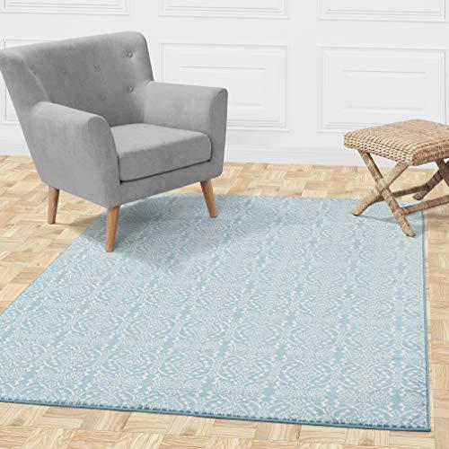 Diagona Designs Alpina Collection Contemporary Floral Damask Design 5' X 7' Area Rug, 63