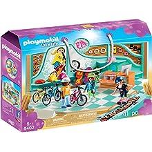 PLAYMOBIL- Tienda de Bicicletas y Skate Juguete, Multicolor (geobra Brandstätter 9402)