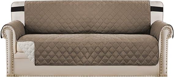 Image ofBellaHills Fundas de sofá Impermeables Fundas de sofá de 3/4 plazas Protectores de sofá para Perros/Mascotas/Fundas de Muebles para niños Impermeables (4 plazas, marrón/Beige)