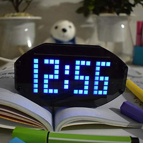 Black LED Desktop Alarm Clock Kit with Temperature Display and Birthday Remind Function - Blue - 1 x DIY Black Mirror L- Arduino Compatible SCM & DIY Kits Arduino Compatible Kits & DIY Kits