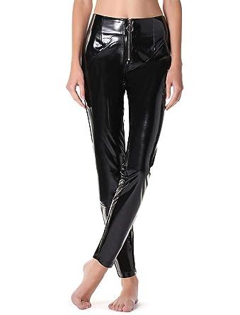 c1fe5a4ad4ce7 Calzedonia Womens Vinyl zip leggings: Amazon.co.uk: Clothing
