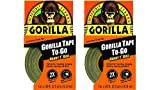 "Gorilla 6100116 Duct Tape To-Go (2 Pack), 1"" x 10 yd., Black"