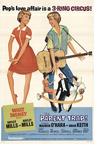 "The Parent Trap 1968 Authentic 27"" x 41"" Original Movie Poster Brian Keith Disney U.S. One Sheet Style B"