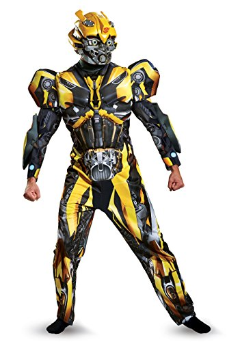 Plus Size Bumble Bee Adult Costumes (Disguise Men's Plus Size Bumblebee Movie Deluxe Adult Costume, Yellow, XX-Large)