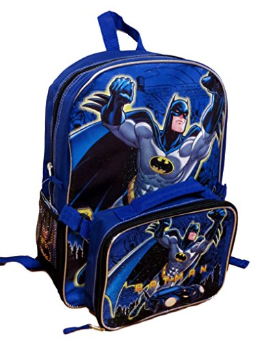 Batman DC Comics Backpack Detachable Insulated Lunch Bag by Batman