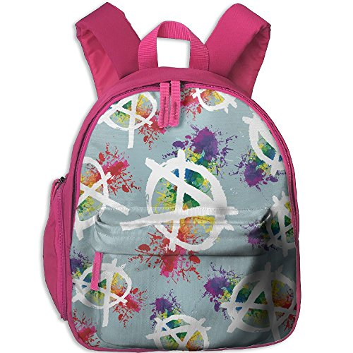 Anarchy Symbo Watercolor Kids School Backpack Lightweight Travel Bag