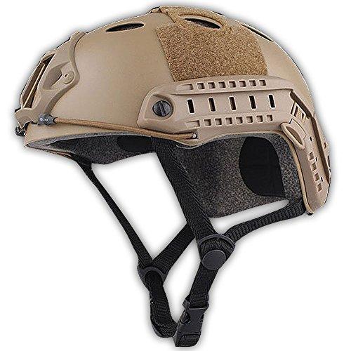 TOOGOO(R)Army Military Style SWAT Combat PJ Type Fast Helmet for CQB Shooting Airsoft - Pj Style Helmet