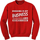 Expression Tees Crew Hugging Is My Business Adult Large Red