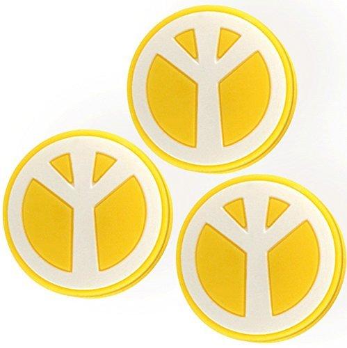 3 Peace gelb Smiley Vibrationsdämpfer Pro H120kx3