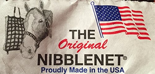 """The Original NibbleNet Double-Nibble 12"""" Deep w/ 1.5"""" Slow Feed Hay Bag by Thin Air Canvas, Inc. by The Original NibbleNet® (Image #1)"""