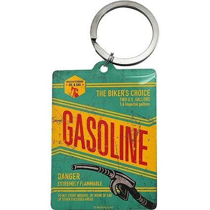 Nostalgic-Art - Motorista de Corner Gasoline - Llavero - 4,5 ...