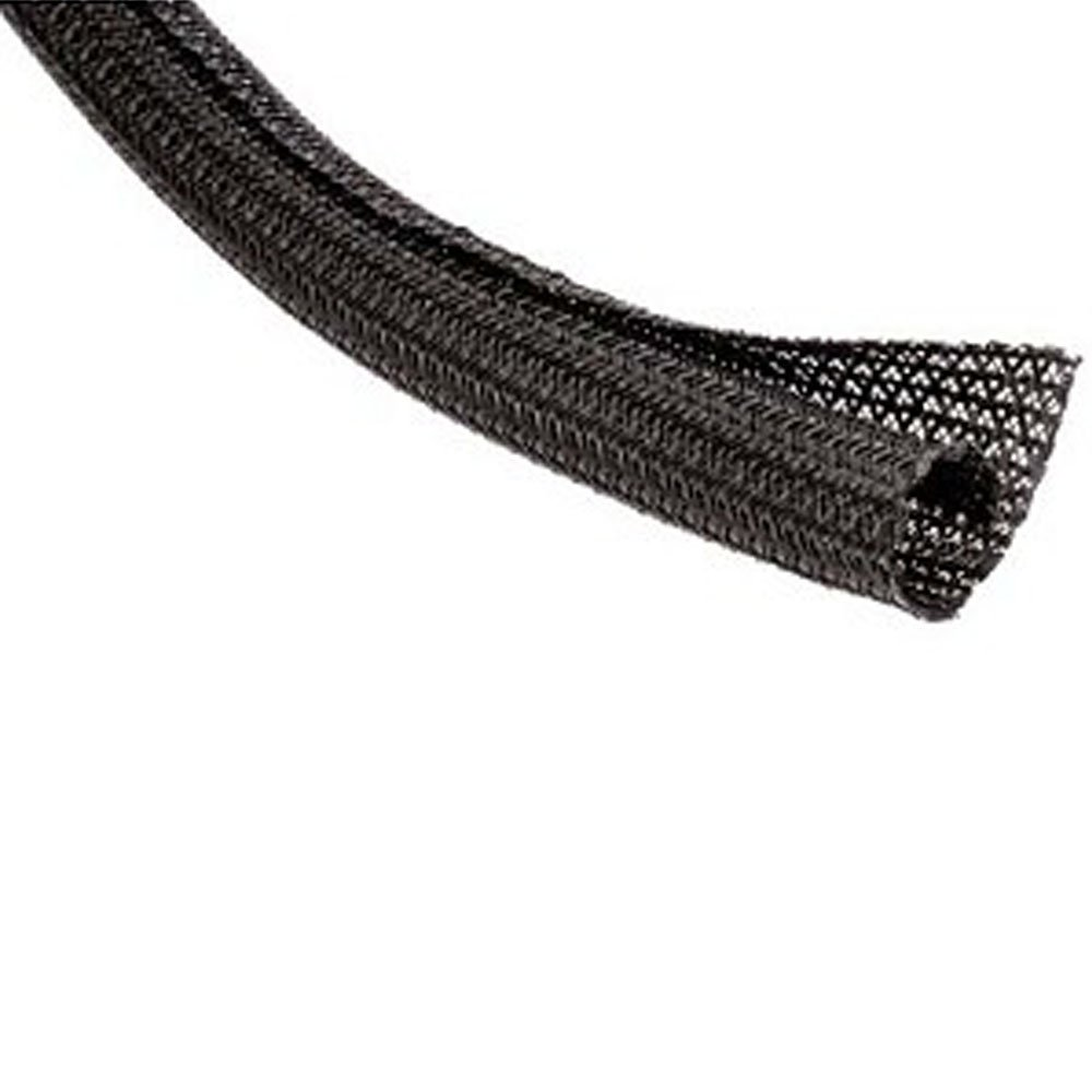 1/2'' F6 Flame Retardant Braided Wrap Around Sleeving - 800FT - Black