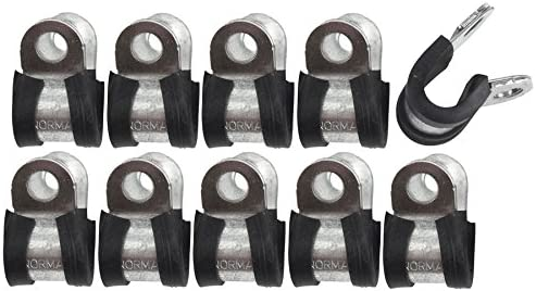 Lines Pack of 10 FL34 AB Tools-Automec Brake Pipe Clips Rubber Lined P Clips 5//8 15.9mm