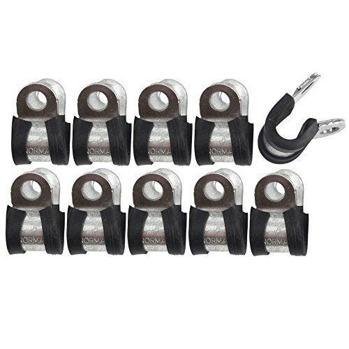 AB Tools-Automec Brake Pipe Clips Rubber Lined P Clips 5/16
