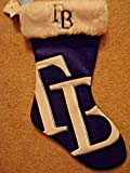MLB TAMPA BAY RAYS FOREVER COLLECTIBLE PLUSH BLUE CHRISTMAS HOLIDAY STOCKING