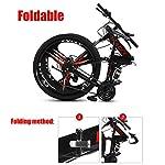ZTIANR-Bicicletta-24Inch-26Inch-Folding-Mountain-Bike-21-velocit-Doppia-Damping-Double-Disc-3-Coltello-Ruota-di-Bicicletta-Freni-Mountain-BikeNero24-inch-21-Speed