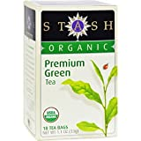 Stash Tea Organic Tea - Premium Green 18 tea bags (Pack of 6) ( Value Bulk Multi-pack)