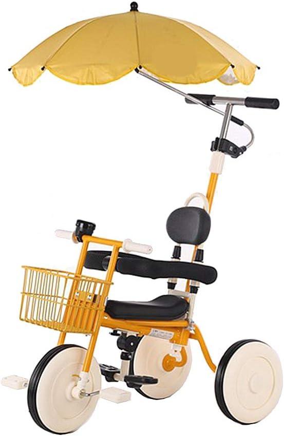 HYDDG Multifunción para niños Triciclo, 1-5 años Antiguo Bebé Niñito Equilibrar Bicicleta Scooter con Desmontable Empujar Encargarse de, Antibloqueo Embrague Función/Incorporado Direccion Diseño